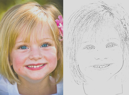 turn your kids photos into coloring pages