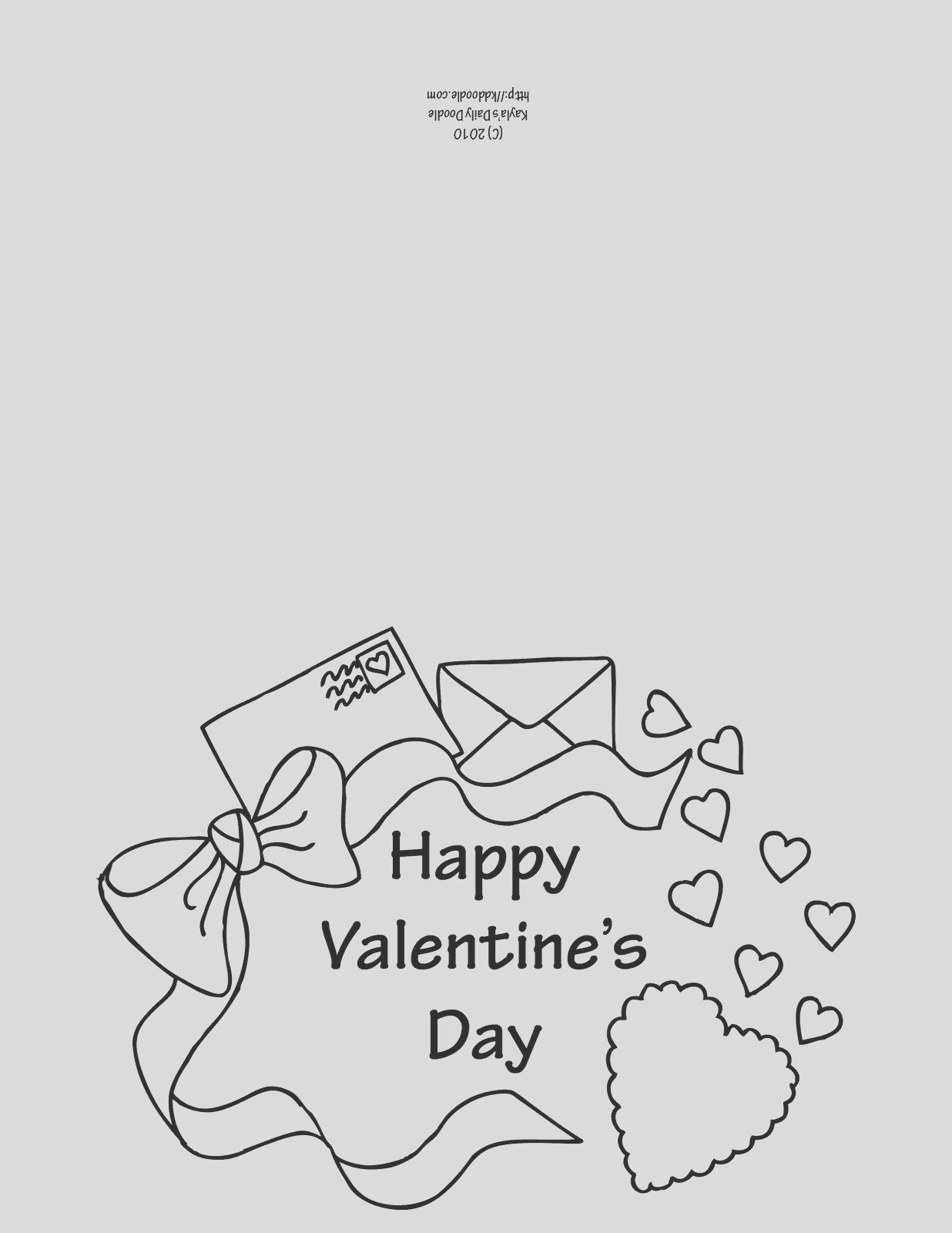 valentine card coloring pages