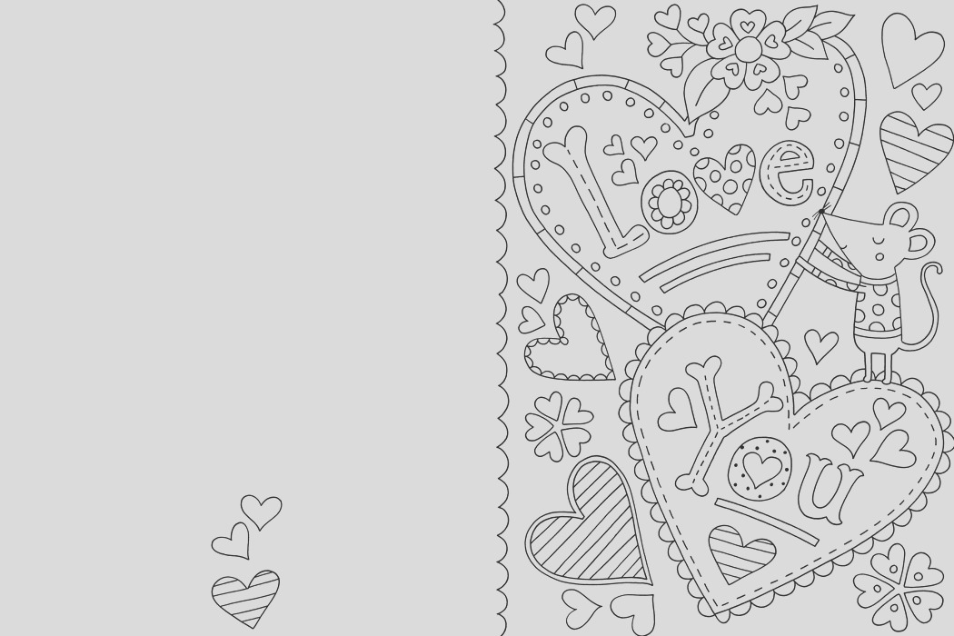 free valentines card colouring