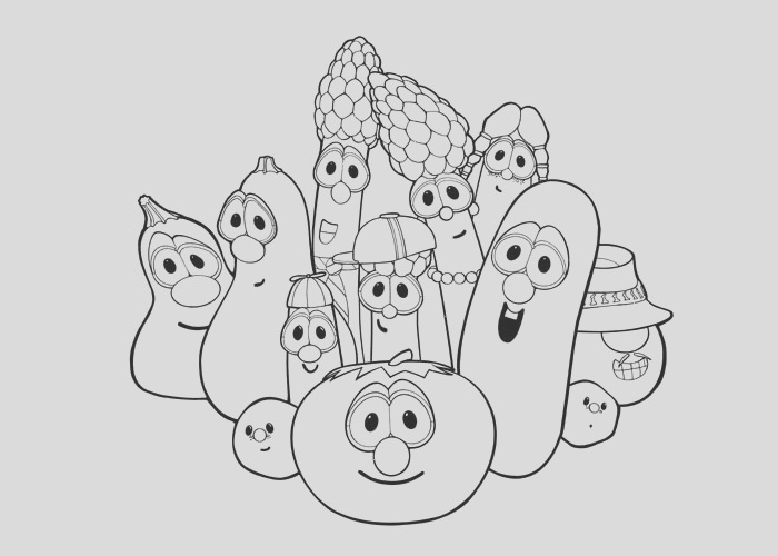 veggie tales coloring pages