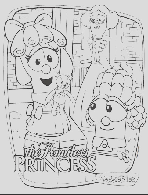 veggietales the penniless princess free coloring pages