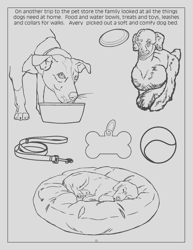 personalized dogs cats coloring book