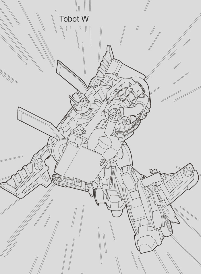 tobot coloring pages for kids