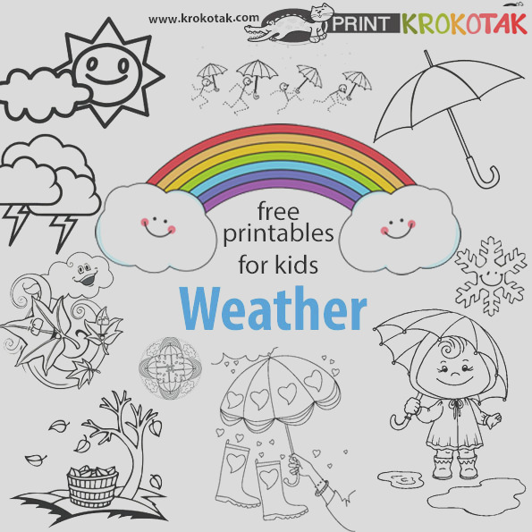 weather coloring pages