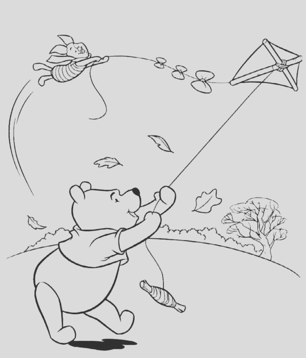 windy day coloring pages