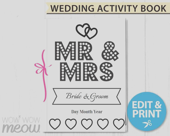 wedding coloring book childrens activity