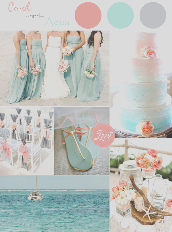 top 5 beach wedding color ideas for summer 2015