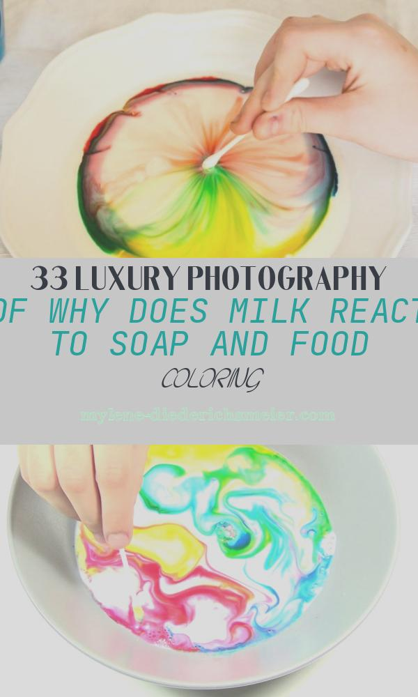 Why Does Milk React to soap and Food Coloring Best Of Color Changing Milk Science Fair Project Idea