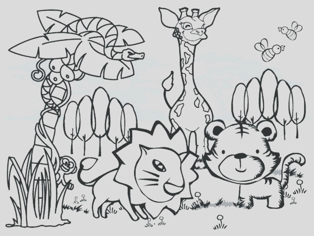 wild animal coloring pages