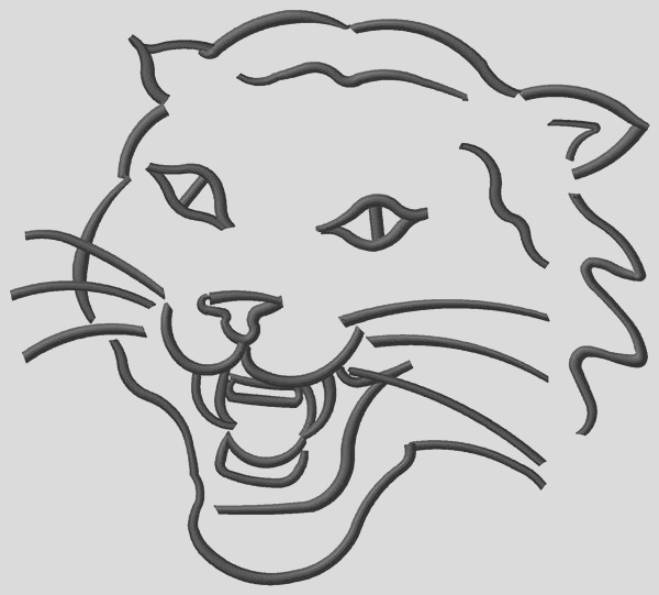 wild cat colouring pages