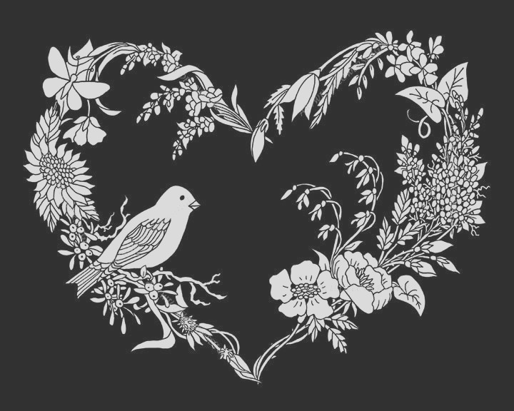 adult coloring page songbird wildflower