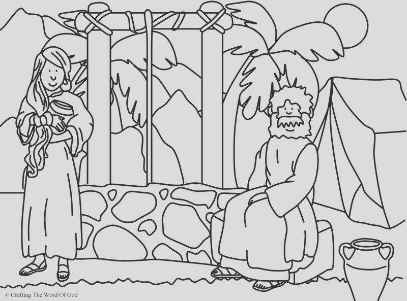 woman at the well coloring page