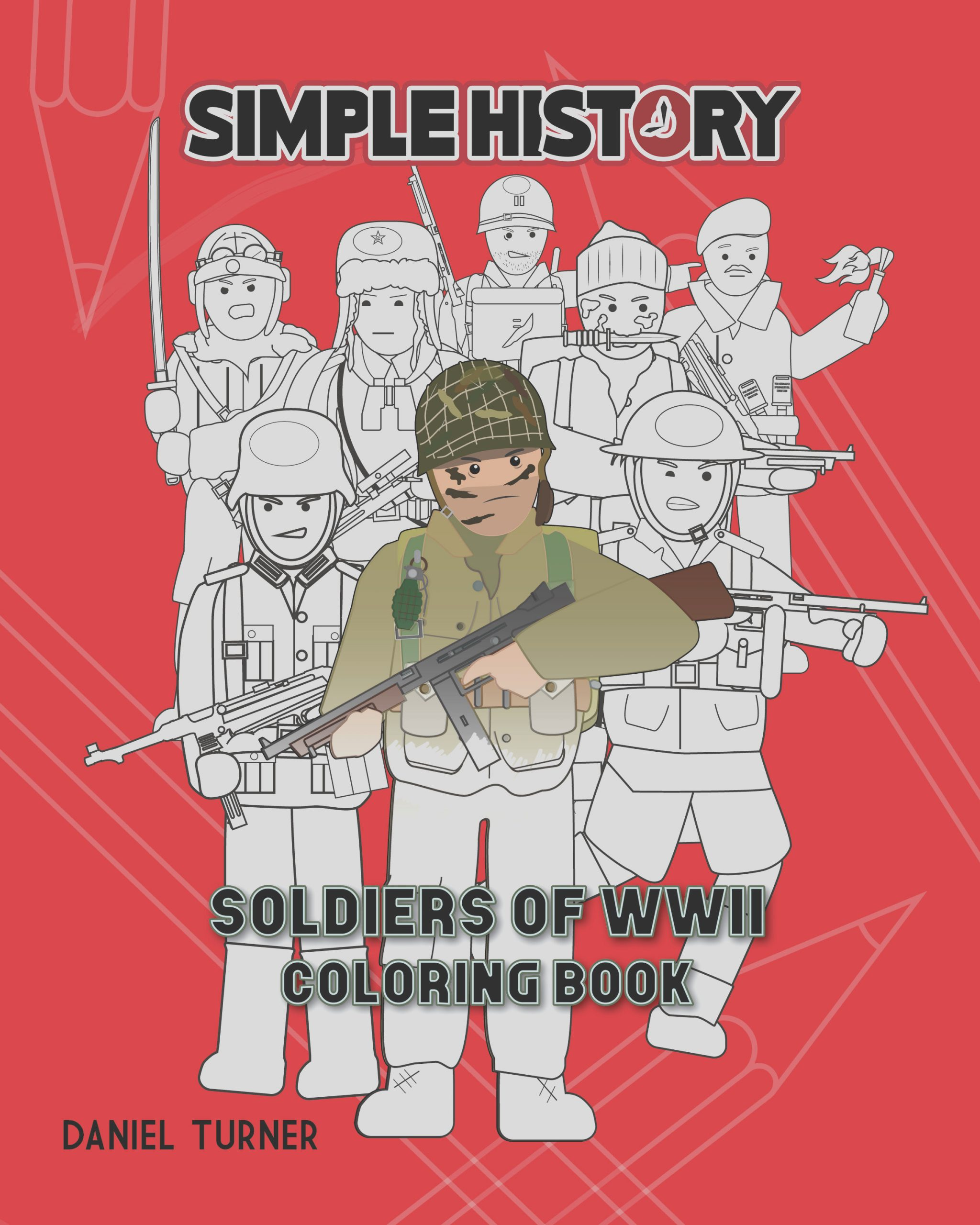 simple history sol rs world war ii coloring book