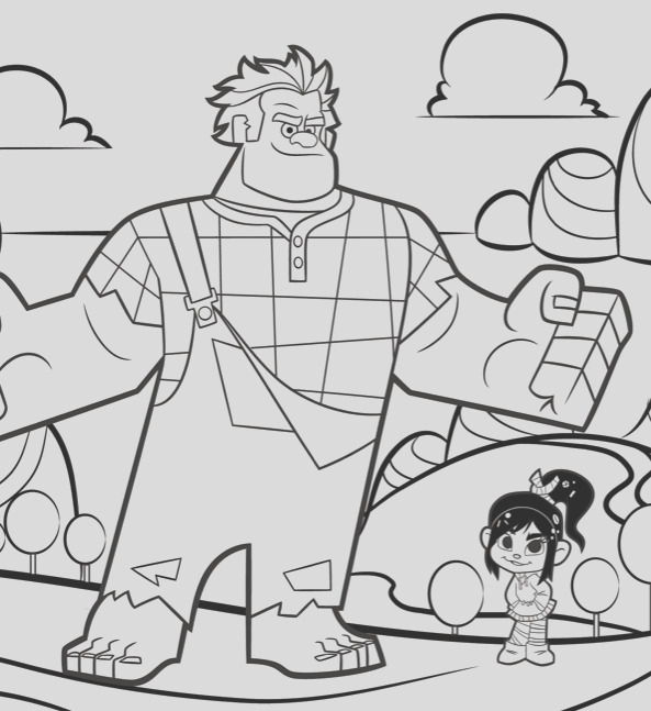 free s wreck it ralph coloring sheets