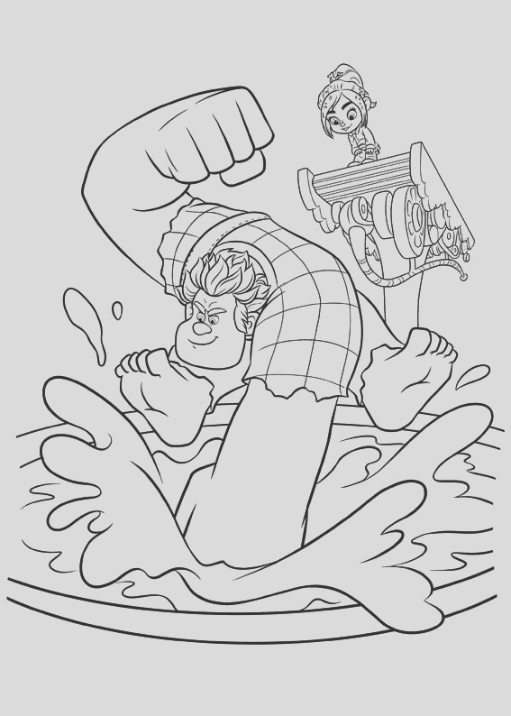 wreck it ralph coloring pages