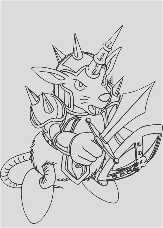 coloring pages of yu gi oh 6