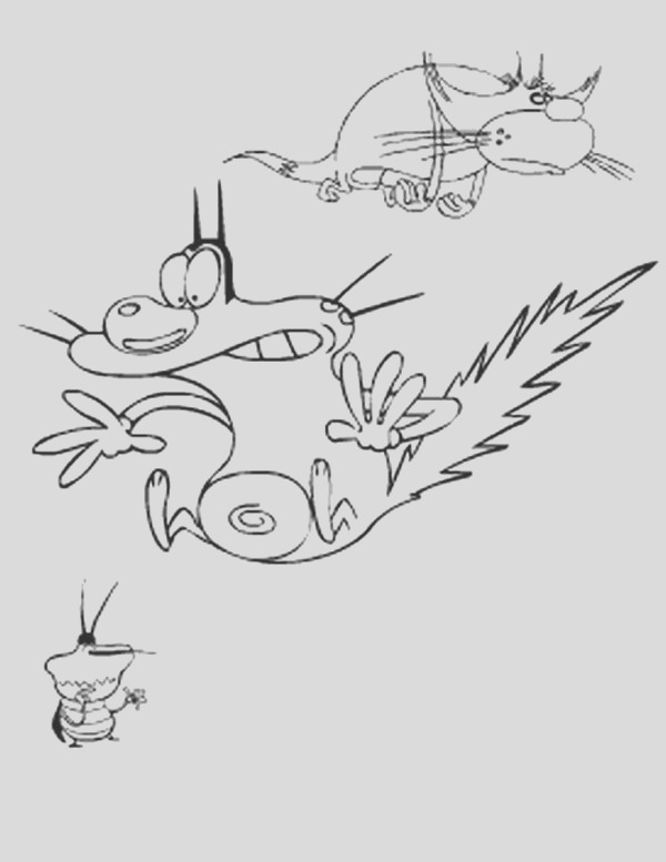 zig and sharko coloring pages sketch templates