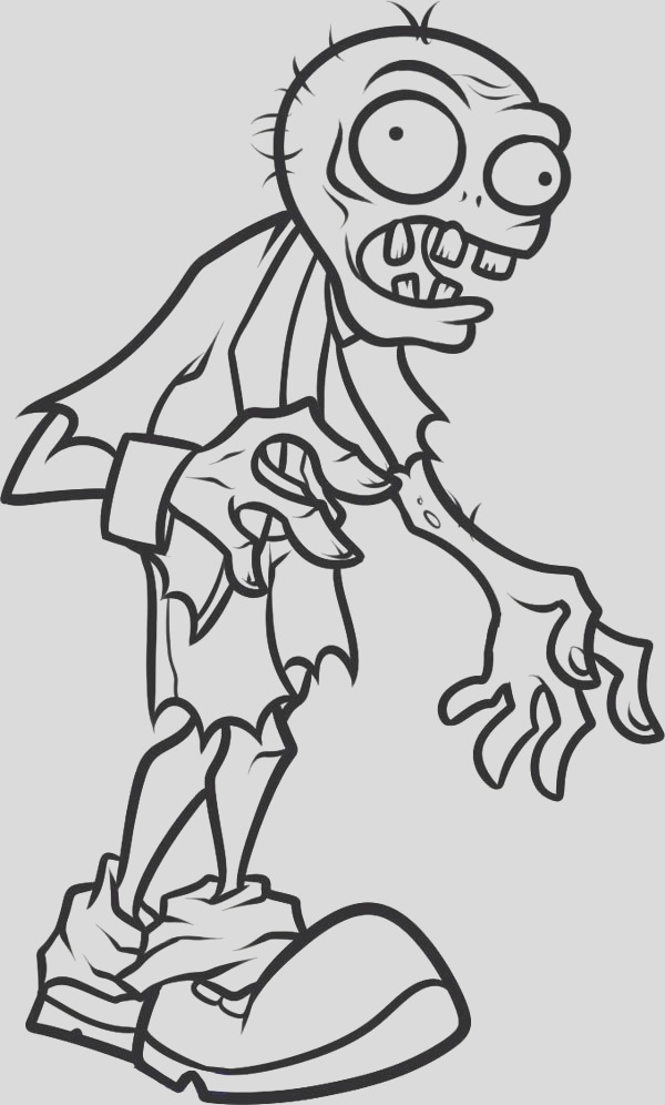 kids zombie coloring page