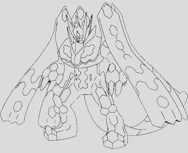 zygarde pokemon coloring pages sketch templates