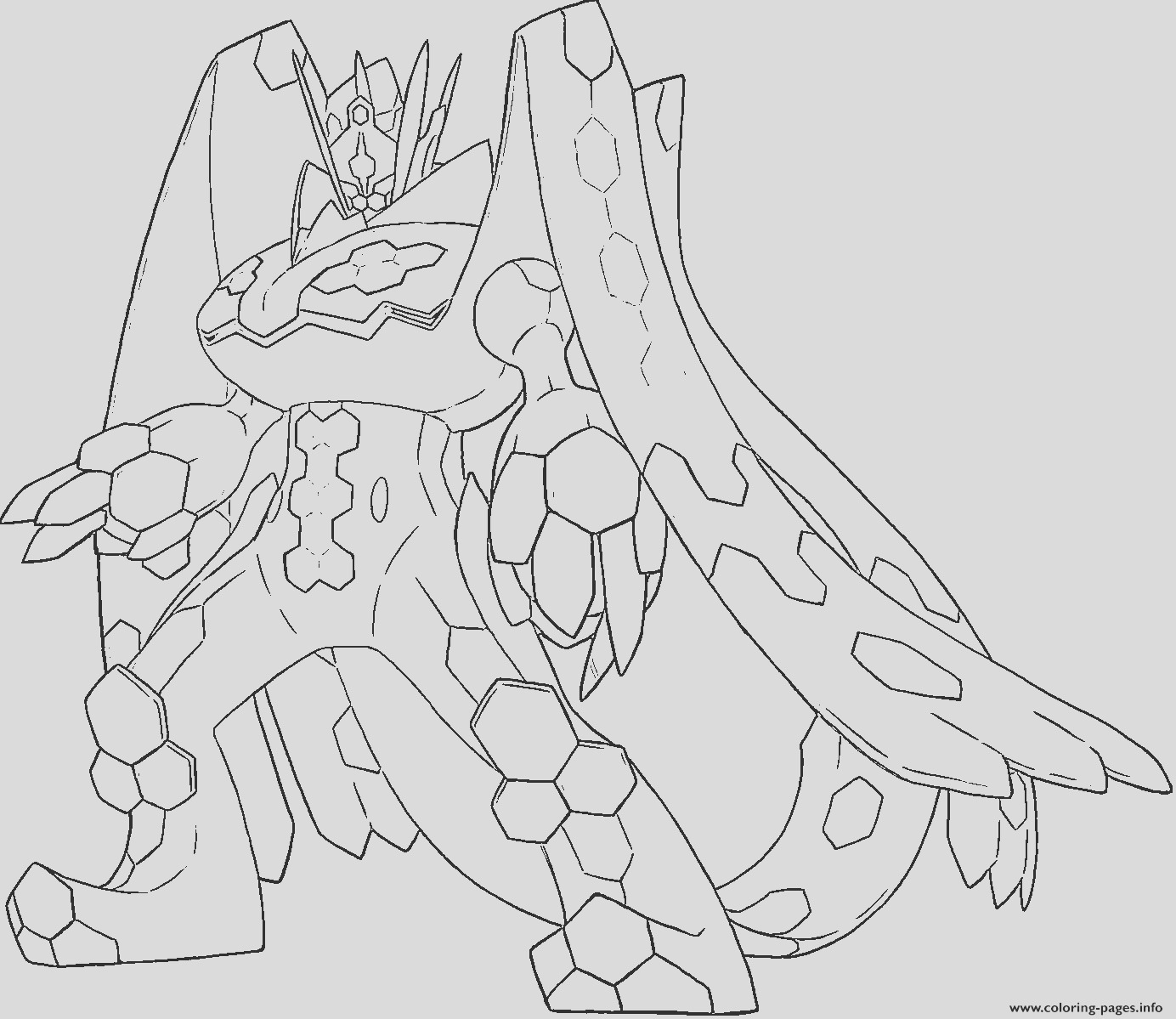 zygarde p pokemon generation 7 printable coloring pages book
