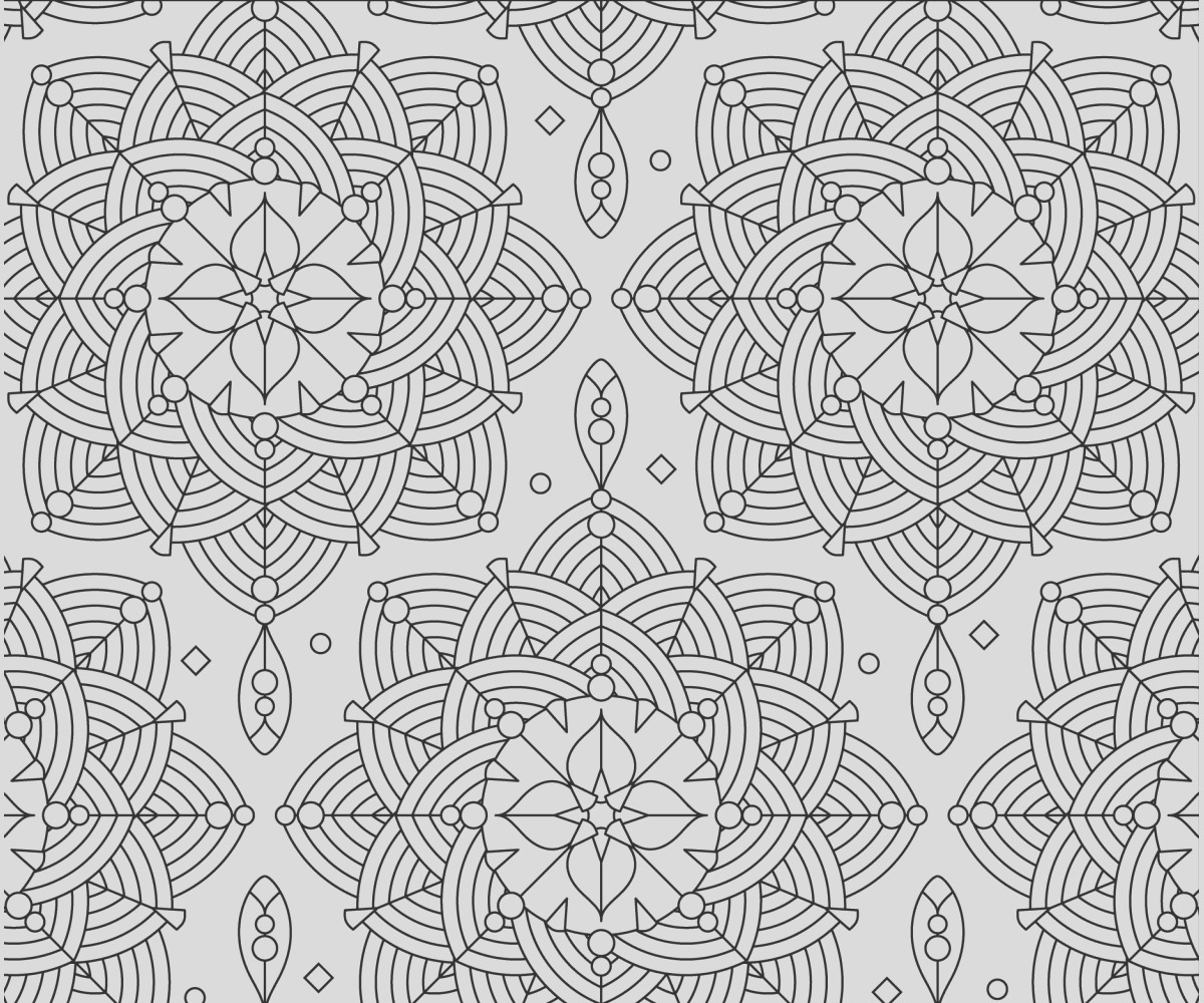 adult coloring page rosettes