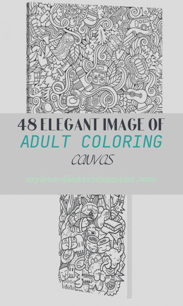 Adult Coloring Canvas Elegant Think Outside the Book Decorate Your House with Coloring