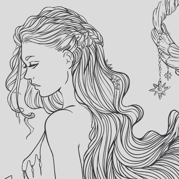 realistic girl coloring pages