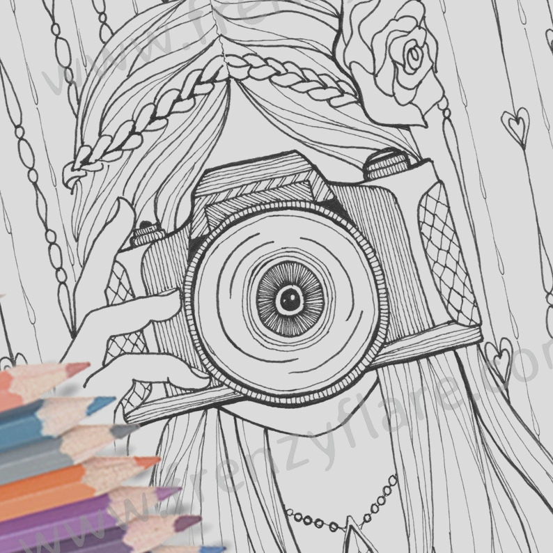 coloring pages for adults or kids girl