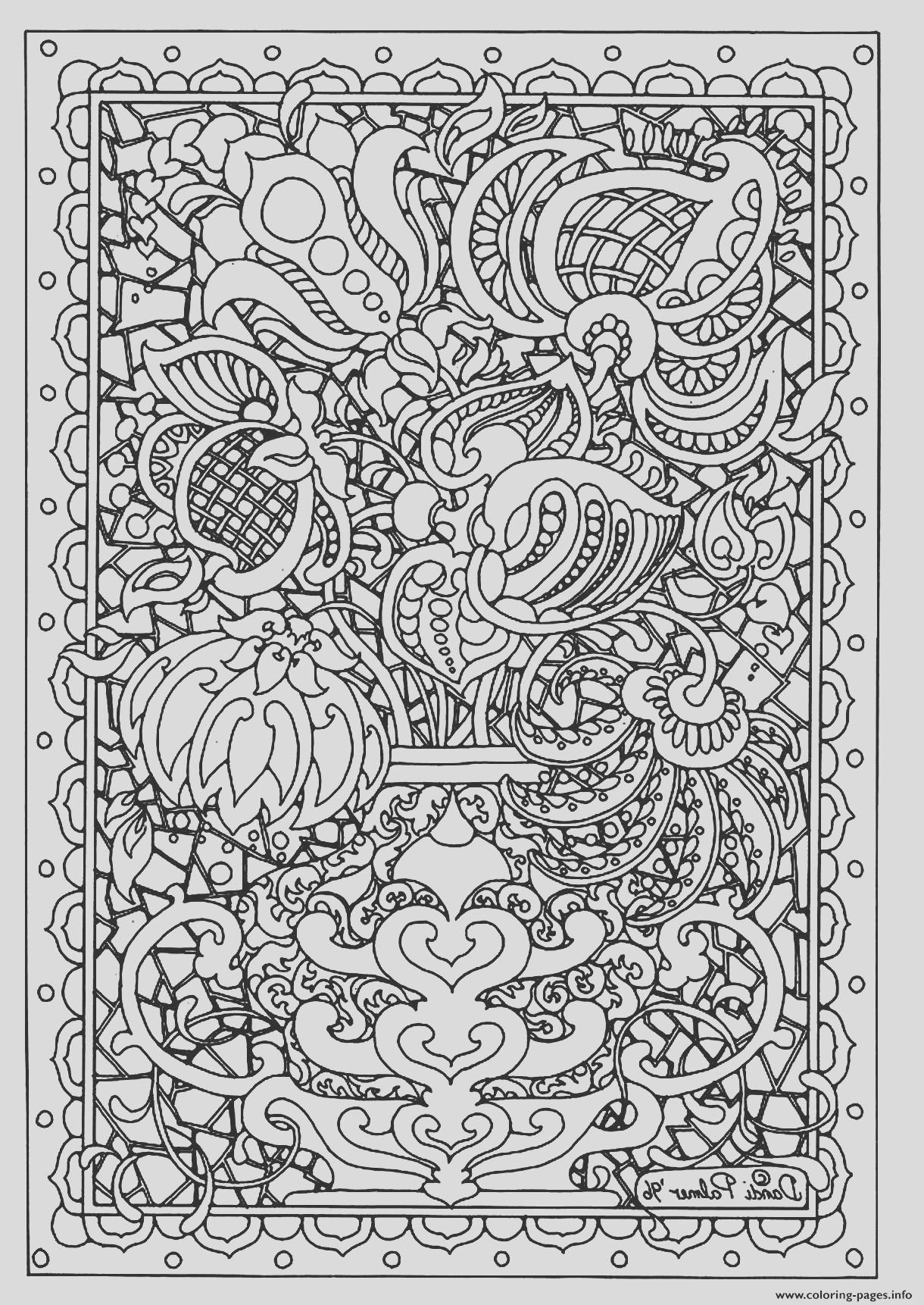adult flower difficult printable coloring pages book