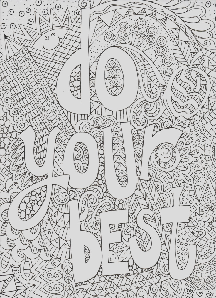 coloring inspirational words
