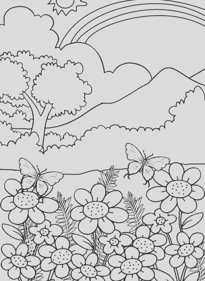 free printable nature coloring pages for adults