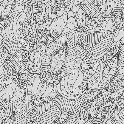 coloring pages for adults decorative hand drawn doodle nature ornamental curl vector gm