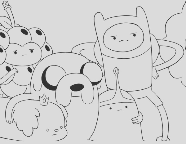 cartoon network adventure time coloring pages