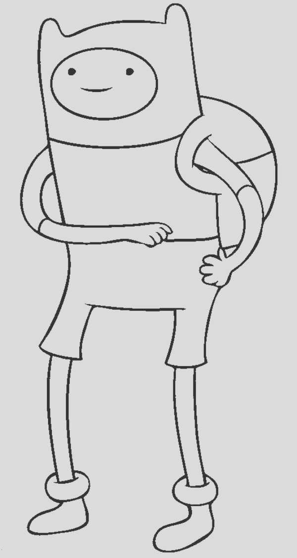 adventure time finn the human coloring pages