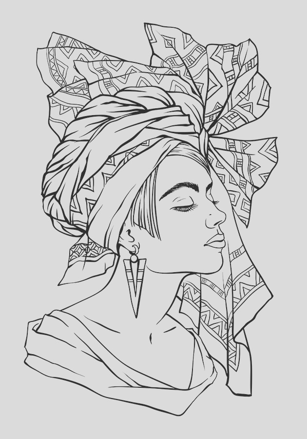 african girl coloring pages
