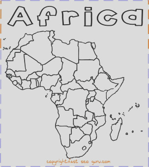 printable africa map coloring page