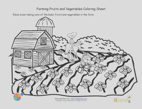 162 kids fun farming coloring sheet growing seeds fruits ve ables farm scene free kids coloring page