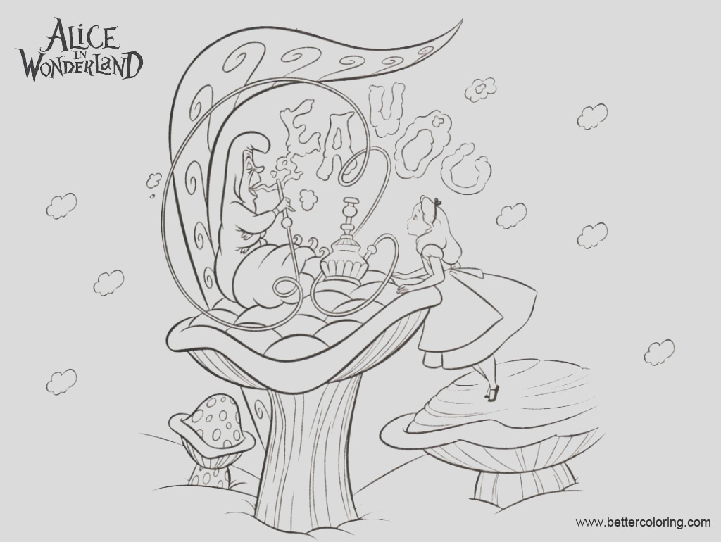 alice in wonderland coloring pages caterpillar asked alice who she is