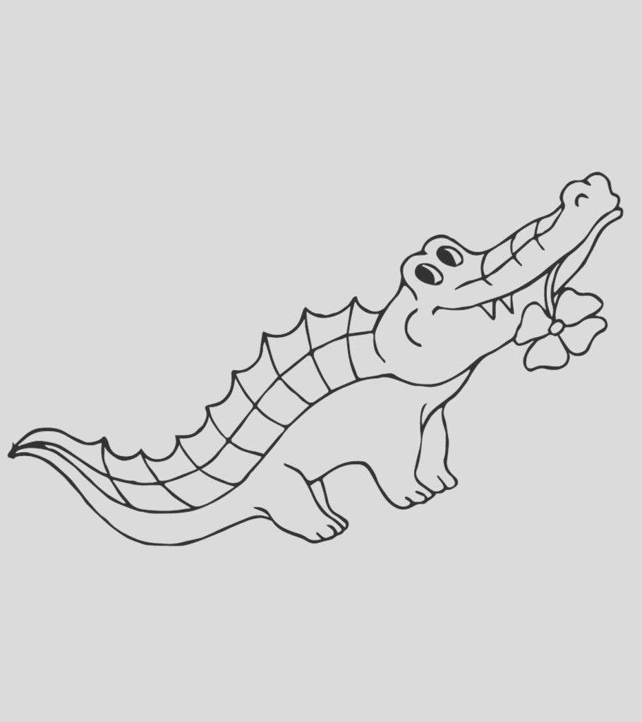 alligator coloring pages toddler will love color