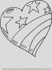 coloring pages america large heart painted like the american flag 51