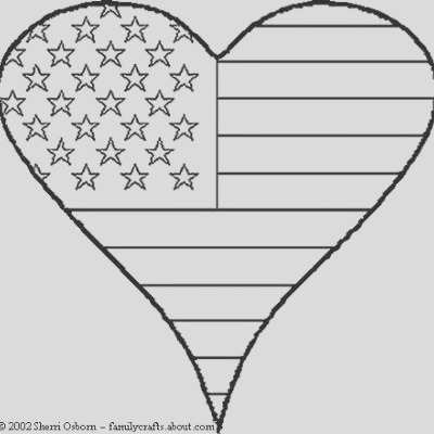 patriotic heart coloring sheet patriotic coloring pages