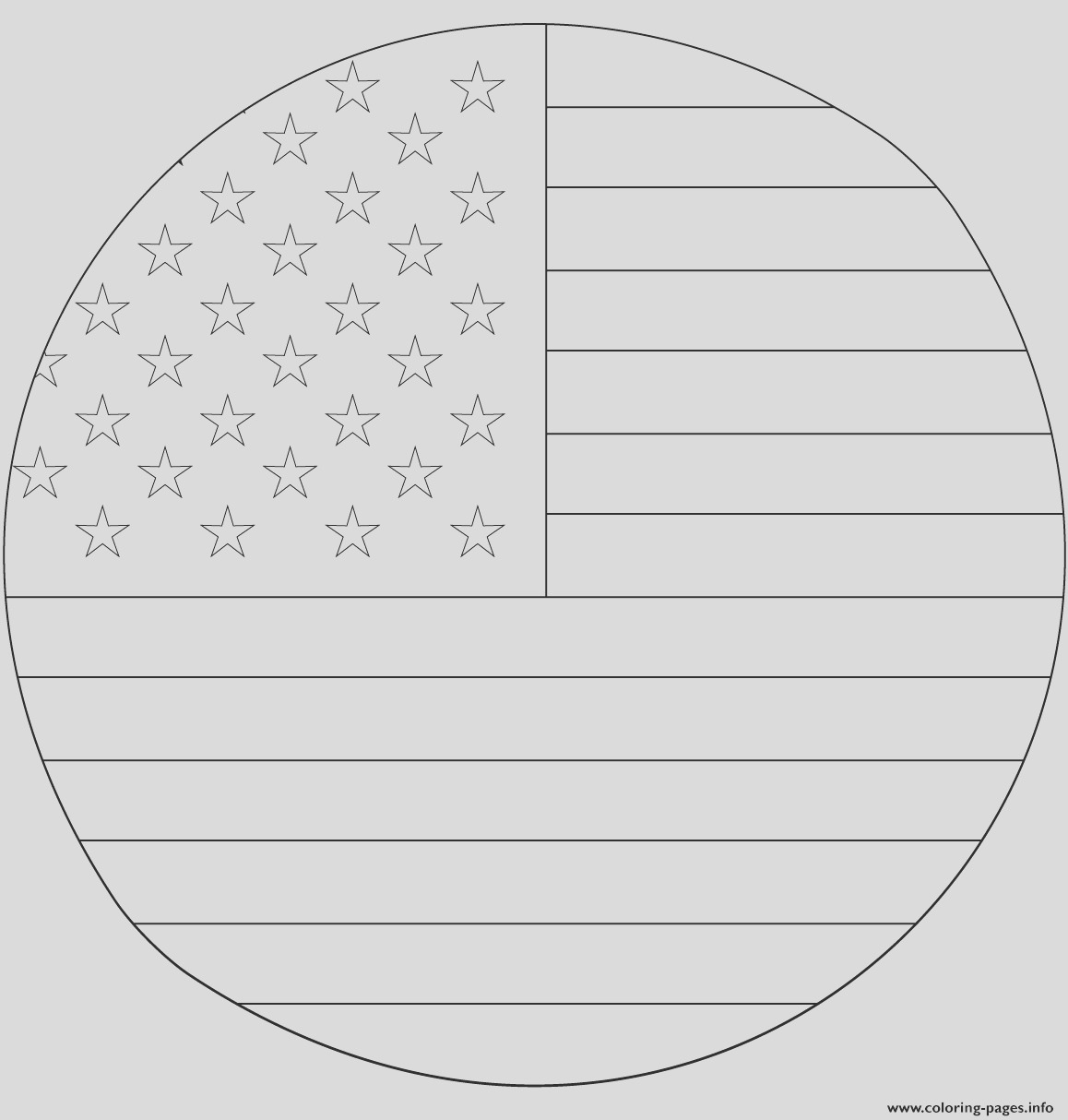american flag in circle printable coloring pages book