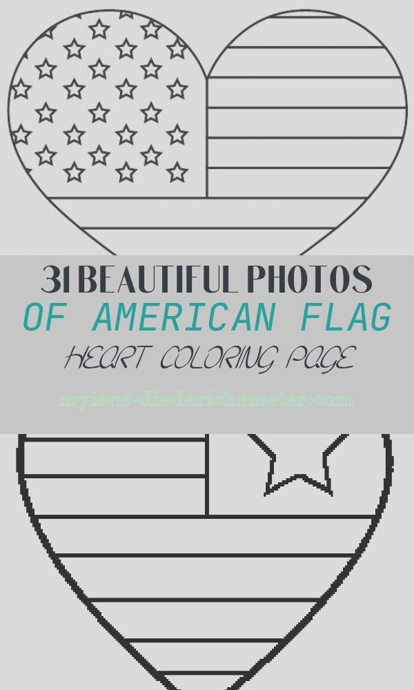 American Flag Heart Coloring Page Unique American Flag Coloring Pages Best Coloring Pages for Kids