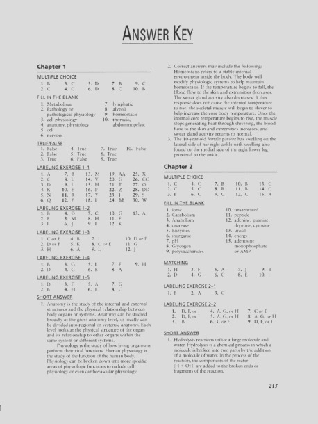 anatomy and physiology coloring workbook answer key chapter 8