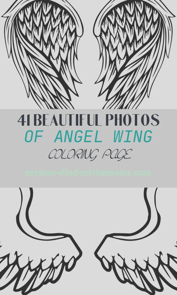 Angel Wing Coloring Page Awesome Angel Wings Tattoo Coloring Page