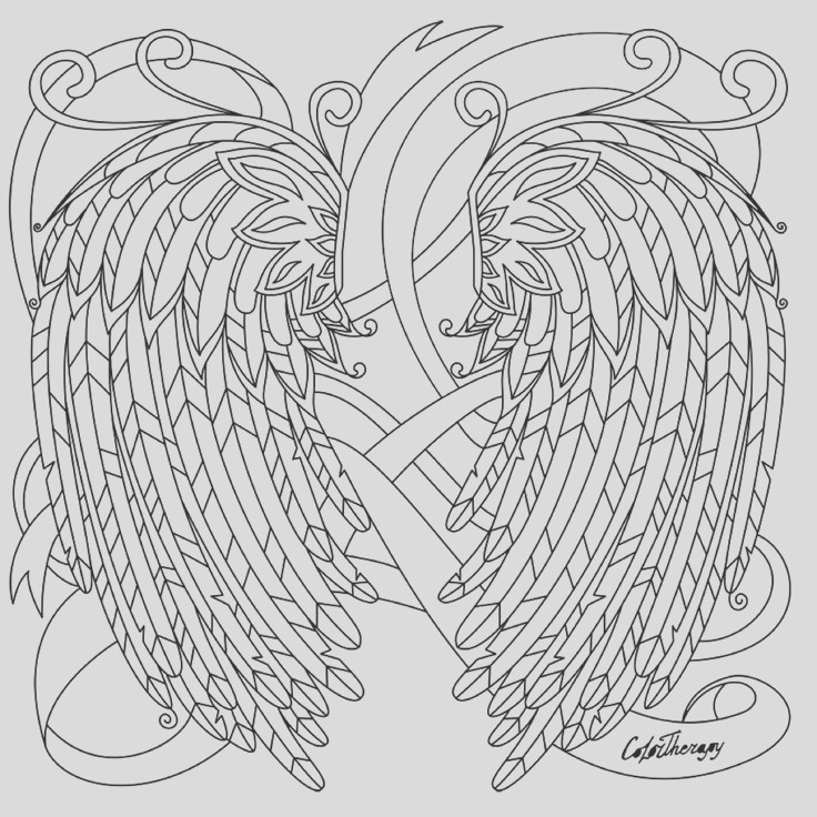 angels coloring pages for adults