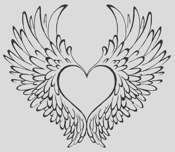 angel heart coloring pages