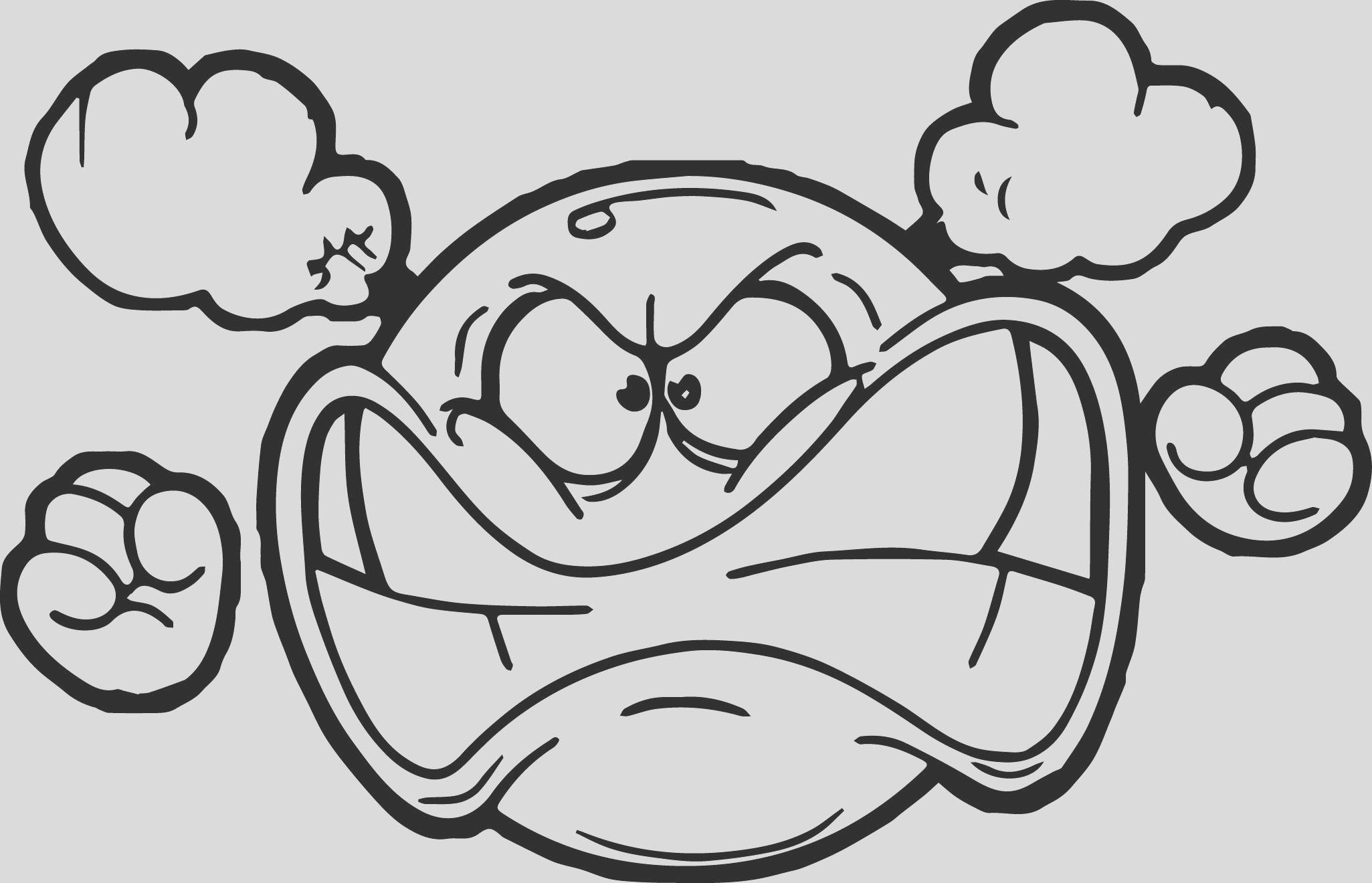 angry emoticon face coloring page