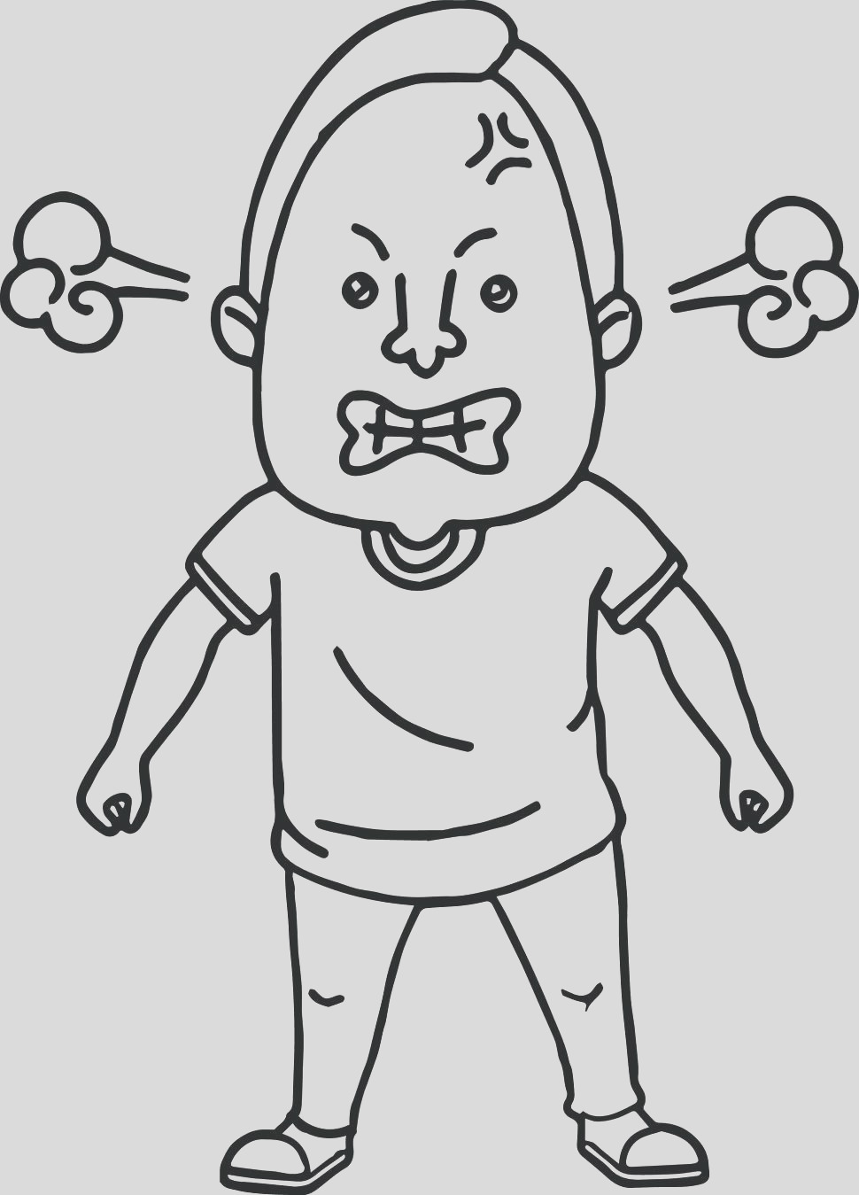 angry face coloring page