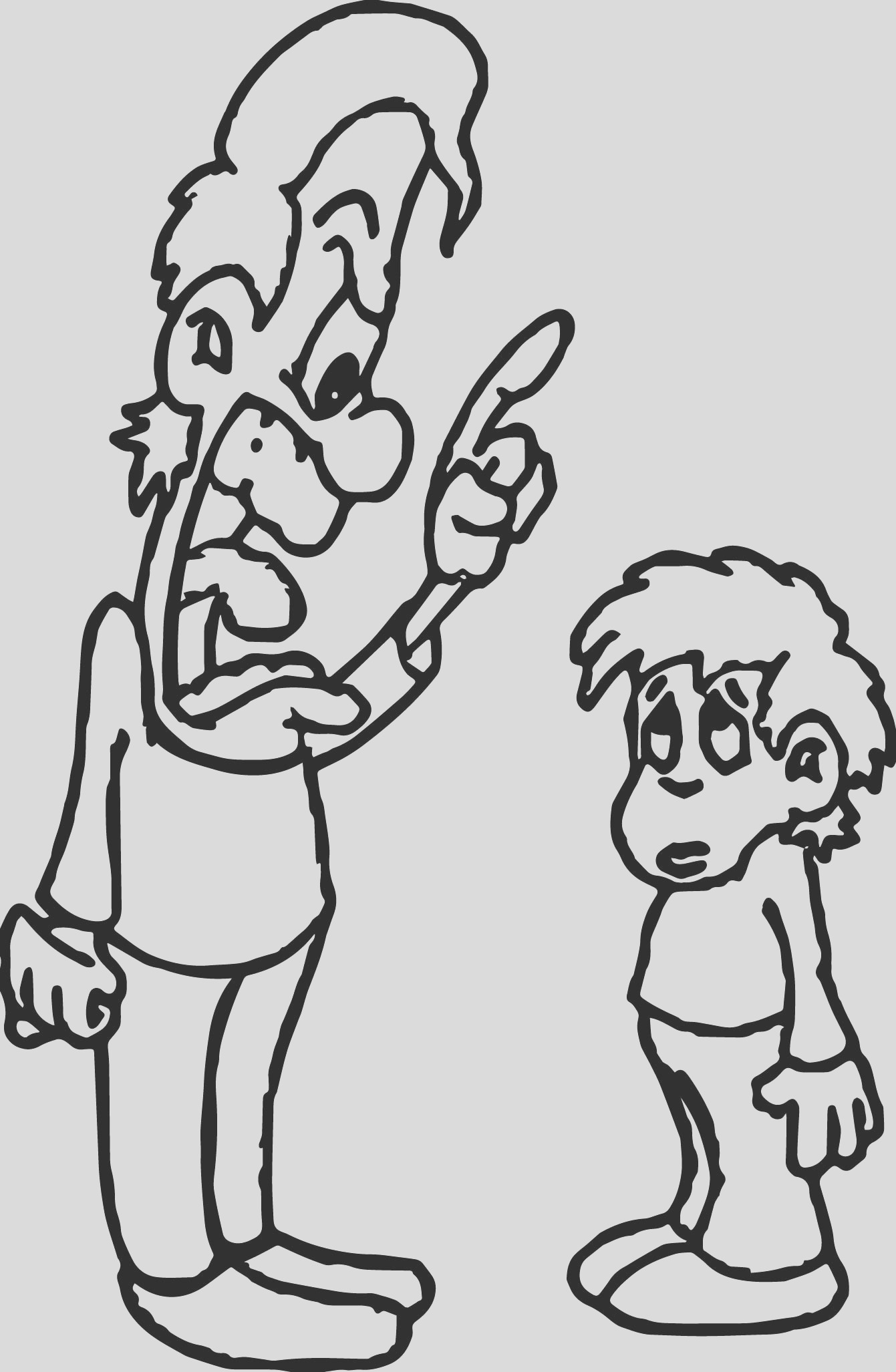 angry parent anger management coloring page